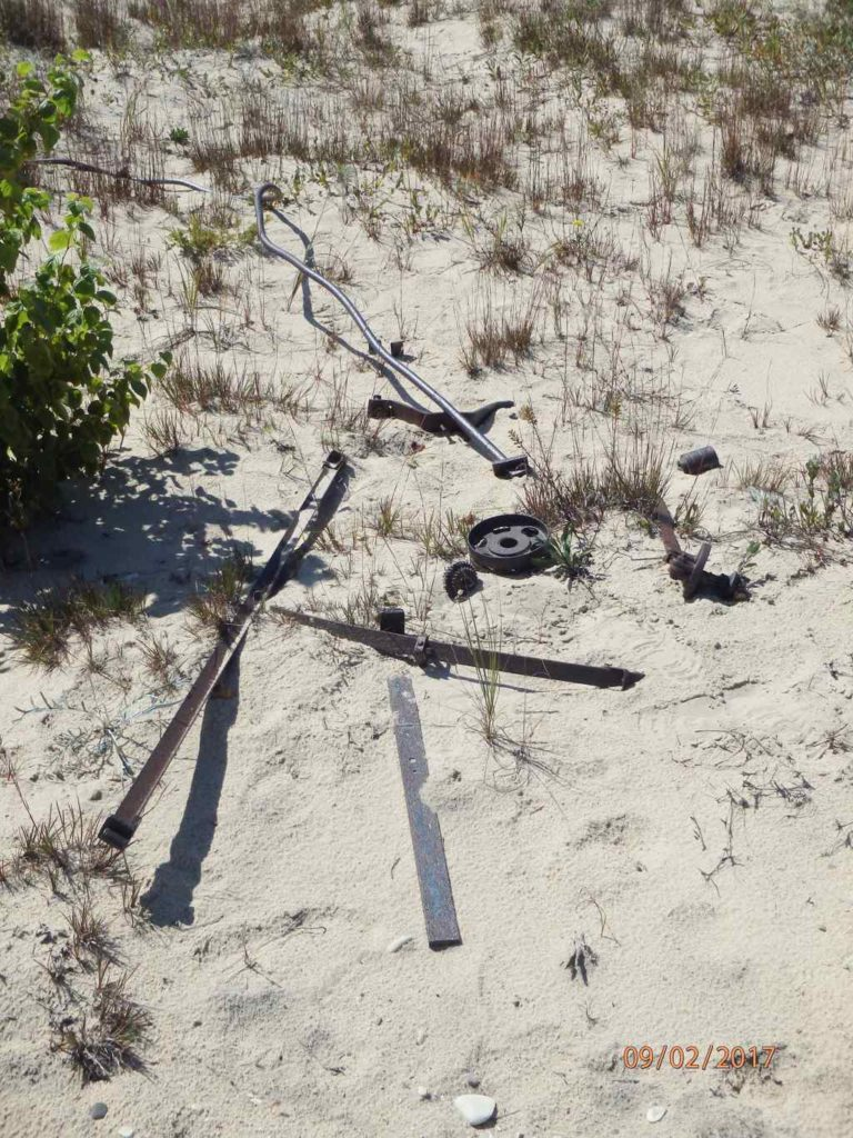 Scattered debris at the site Dimmicks Point Lighthouse