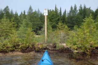 Beaver Island Water Trail marker