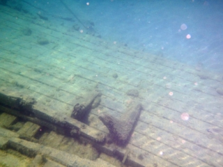 Remains of the Bessie Smith shipwreck